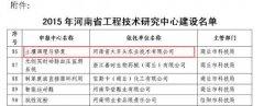 """河南省科技厅批准依托河南省火车头农业技术有限公司建设""""河南省土壤调理与"""
